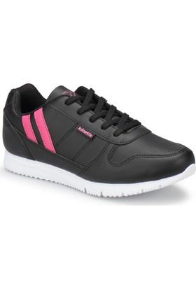 Kinetix Cordelia Siyah Fuşya Beyaz Kadın Sneaker Spor Ayakkabı