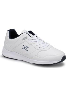 Kinetix Delvin Pu Beyaz Lacivert Erkek Sneaker Spor Ayakkabı