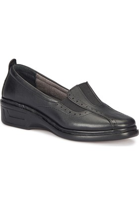 Polaris 5 Nokta 72.110018.Z Siyah Kadın Deri Ayakkabı