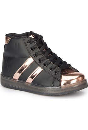 Pink Step Nardy-1 Siyah Kız Çocuk Sneaker Ayakkabı