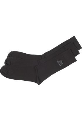 Kinetix Danver Siyah Erkek Uzun Soket Çorap
