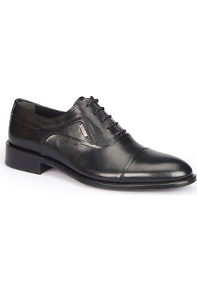 Mercedes Tomelo Siyah Erkek Deri Ayakkabı