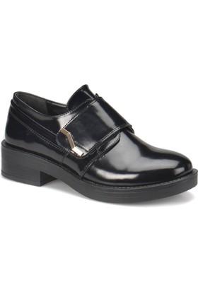 Miss F Dw17006 Siyah Kadın Maskulen Ayakkabı