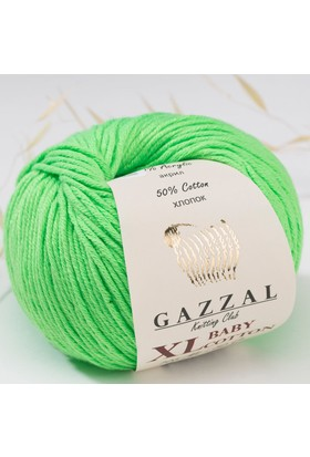 Gazzal Baby Cotton XL Pamuk El Örgü İpi - (Bebek Yünü)