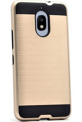 Gpack Samsung Galaxy J7 Pro 2017 Kılıf Darbe Emici Sert Arka Kapak + Cam