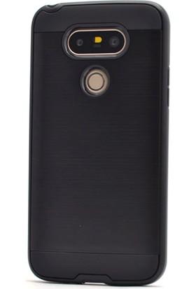 Gpack LG G6 Kılıf Darbe Emici Sert Arka Kapak + Cam