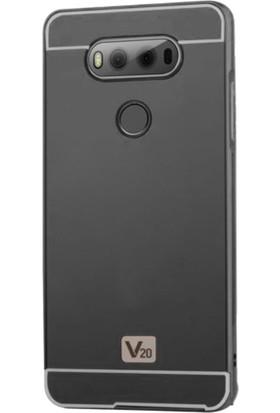 Gpack LG V20 Kılıf Aynalı Metal Bumper Case