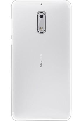 Gpack Nokia 6 Kılıf 2 mm Silikon Arka Kapak Case + Cam