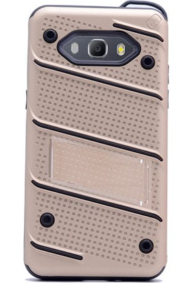 Gpack Samsung Galaxy Grand Prime Plus Kılıf Standlı İron Arka Kapak + Cam