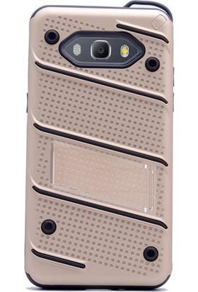 Gpack Samsung Galaxy Grand Prime Plus Kılıf Standlı İron Arka Kapak + Kalem + Cam