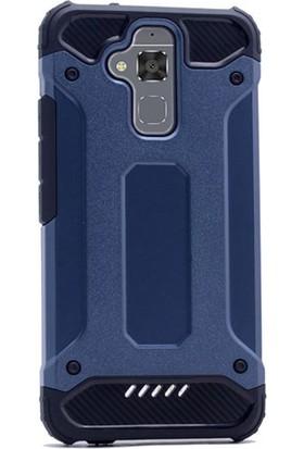 Gpack Asus Zenfone 3 Max ZC520TL Kılıf Darbe Emici Sert Crash Kapak + Cam