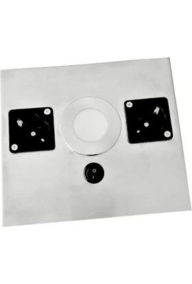 Tezgah Altı İki Prizli Lambalı Armatür Lamba Beyaz