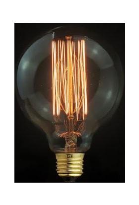 Ferled Edison Flemanlı Dekoratif Rustik Ampul G95 Model