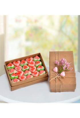 Şeker Şef Sevgiliye Kalpli Jelibon Hediye Paketi