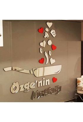 Leydi Collection İsme Özel Dekoratif Mutfak Aynası - Kitchen