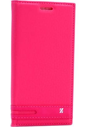 Case Man Sony Xperia M5 Kılıf Elegant Kapaklı + Temperli Cam + Cep Bakım Kiti
