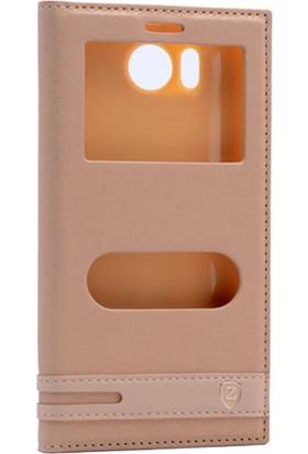 Case Man Casper Via E1 Kılıf Elegant Pencereli + Temperli Cam + Cep Bakım Seti