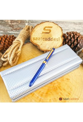 Steelpen 3 Fonksiyonlu Mavi Steel Pen Kalem