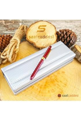 Steelpen 3 Fonksiyonlu Bordo Steel Pen Kalem