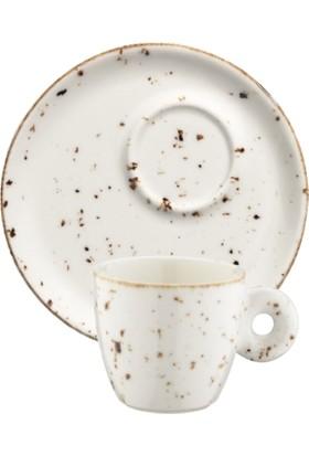 İkram Dünyası Bonna Grain Banquet Espresso Fincanı ve Tabağı 6'Lı