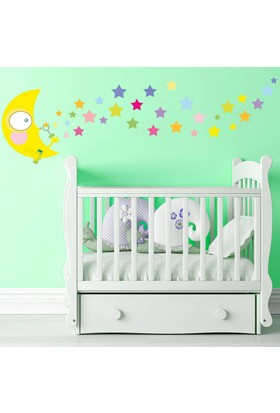 DekorLoft Aydede ve Yıldızlar Çocuk Odası Duvar Sticker CS-219