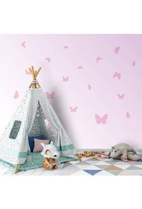 DekorLoft Pembe Kelebekler Çocuk Odası Duvar Sticker CS-224