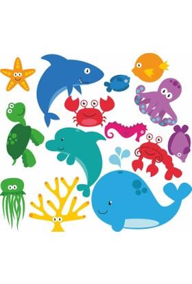 DekorLoft Deniz Hayvanları Çocuk Odası Sticker CS-262