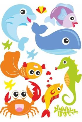 DekorLoft Deniz Hayvanları Çocuk Odası Odası Sticker CS-268
