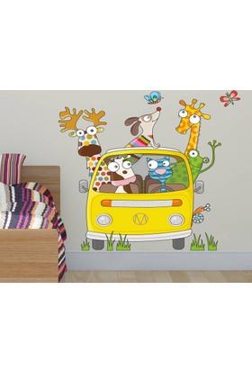 DekorLoft Komik Yolculuk Çocuk Odası Duvar Sticker CS-283