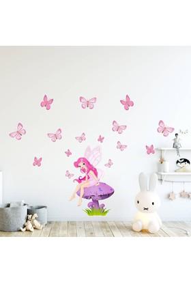 DekorLoft Kelebekler ve Peri Çocuk Odası Sticker CS-510