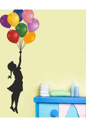 DekorLoft Balonlu Kız Çocuk Odası Sticker CS-553