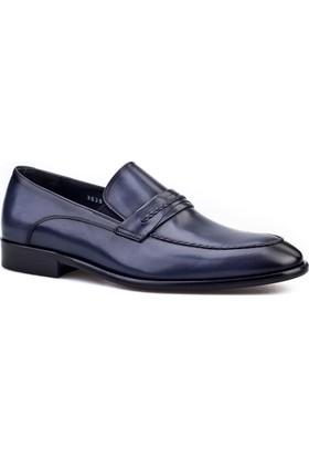 Cabani Kemerli Kösele Enjeksiyonlu Klasik Erkek Ayakkabı Lacivert
