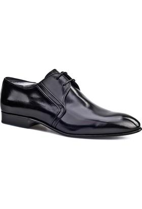 Cabani Bağcıklı Kösele Enjeksiyonlu Klasik Erkek Ayakkabı Siyah Buffalo Deri