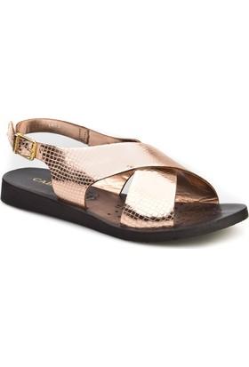 Cabani Çapraz Şeritli Günlük Kadın Sandalet Roz