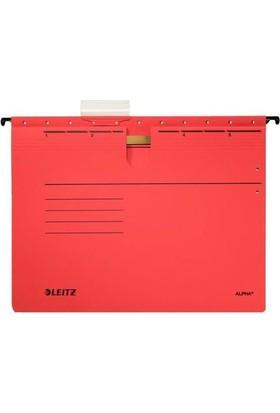 Leitz Alpha Renkli Telli Askılı Dosya Kırmızı L-1984