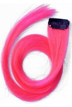 Modamarka-Shop Saç Aksesuarı Renkli Çıtçıtlı Postiş Kaynak Saç Pembe