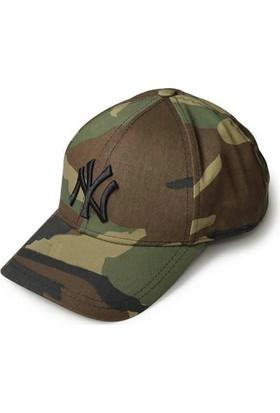 Modamarka-Shop Ny New York Unisex Hiphop Şapka Kamuflaj Spor Kep
