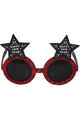 Pandoli Happy New Year Çam Figürlü Siyah Camlı Yılbaşı Gözlüğü
