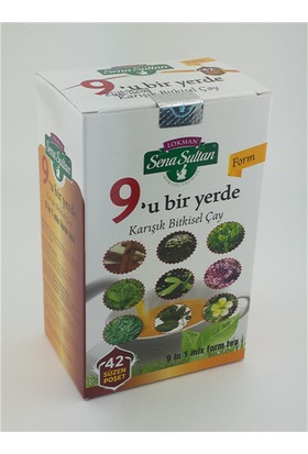 Lokman Sena Sultan Doğal 9'U Bir Yerde Karışık Form Çayı (84 Gr.)-Zyf