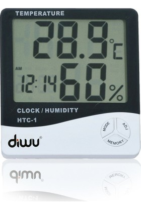HTC-1 Saatli Nem Ölçer ve Termometre