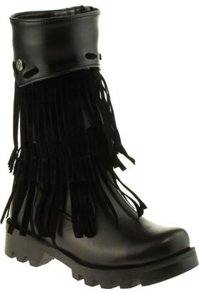 Vicco Kız Çocuk 957.V.239 Patik Deri Çizme Siyah Çizme
