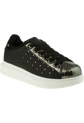 Vicco Kız Çocuk 938.V.722 Bağlı Parlak Siyah Ayakkabı