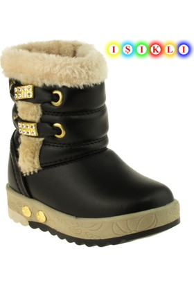 Vicco Kız Çocuk 220.V.658 İşıklı Ayakkabı Siyah Bot