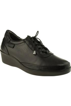 Venus Kadın 1794055 Bağcikli Siyah Ayakkabı