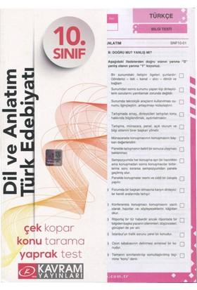 10. Sınıf Dil Ve Anlatım Türk Edebiyatı Yaprak Testi