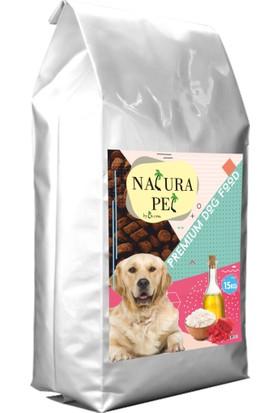Natura Pet Kuzulu ve Ciğerli Yetişkin Köpek Maması 15kg