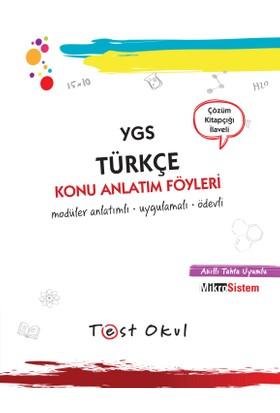 Ygs Türkçe Konu Anlatım Föyü (36 Föy + Çözüm Kitapçığı)
