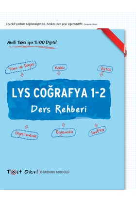 Üniversiteye Hazırlık Ders Rehberi Lys Coğrafya 1-2 (3 Fasikül)