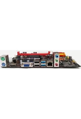 Quadro H61 H61-L3Y Ddr3 Lan O/B Vga Hdmı,Usb 3.0 4X Sata2 Pcıexpress 115 Quadro-H61-L3Y