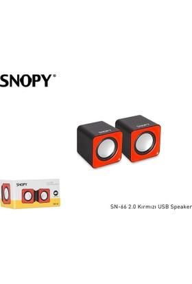 Snopy Sn-66 2.0 Kırmızı Usb Speaker Sn-66-K